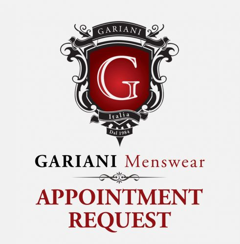 Request an appointment with Antony or Ramzy at Gariani Menswear Dallas