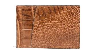 Nile Crocodile Leather Wallet Money Clip, The Best Gift for a Man or Woman